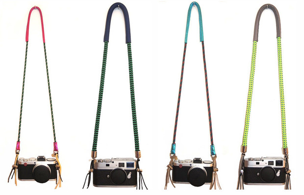 Colorful Fashion Forward Camera Straps Made From Climbing Rope and Chains ropechainstrap1