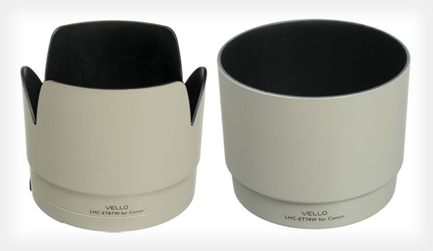Shield Your Canon L Glass in Style with Vellos New White Lens Hoods  whitelenshood