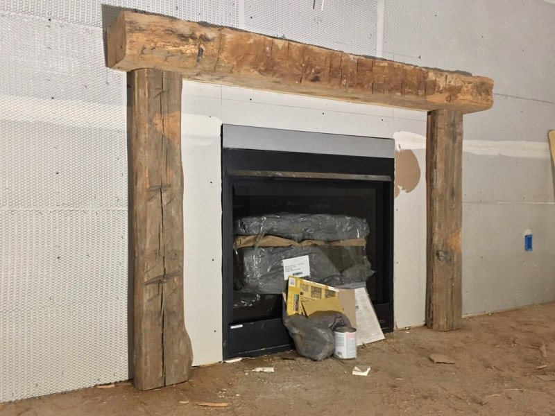Large Of Reclaimed Wood Mantel