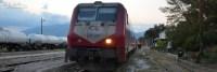 An der Grenze zu Griechenland hielt der Zug für eine Weile an.