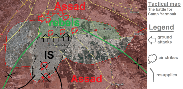 Map of Situation in Yarmouk 04.04.15
