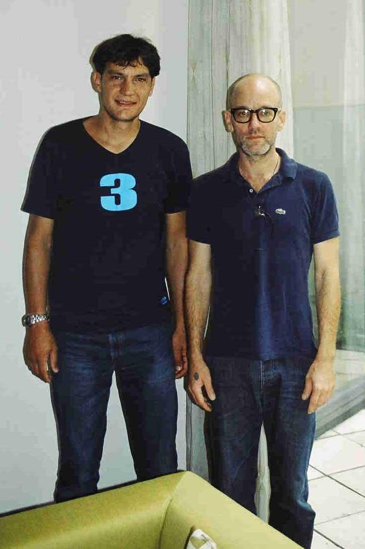Mit Michael Stipe von R.E.M. in Wien.