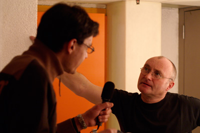 Mit Phil Collins in Genf
