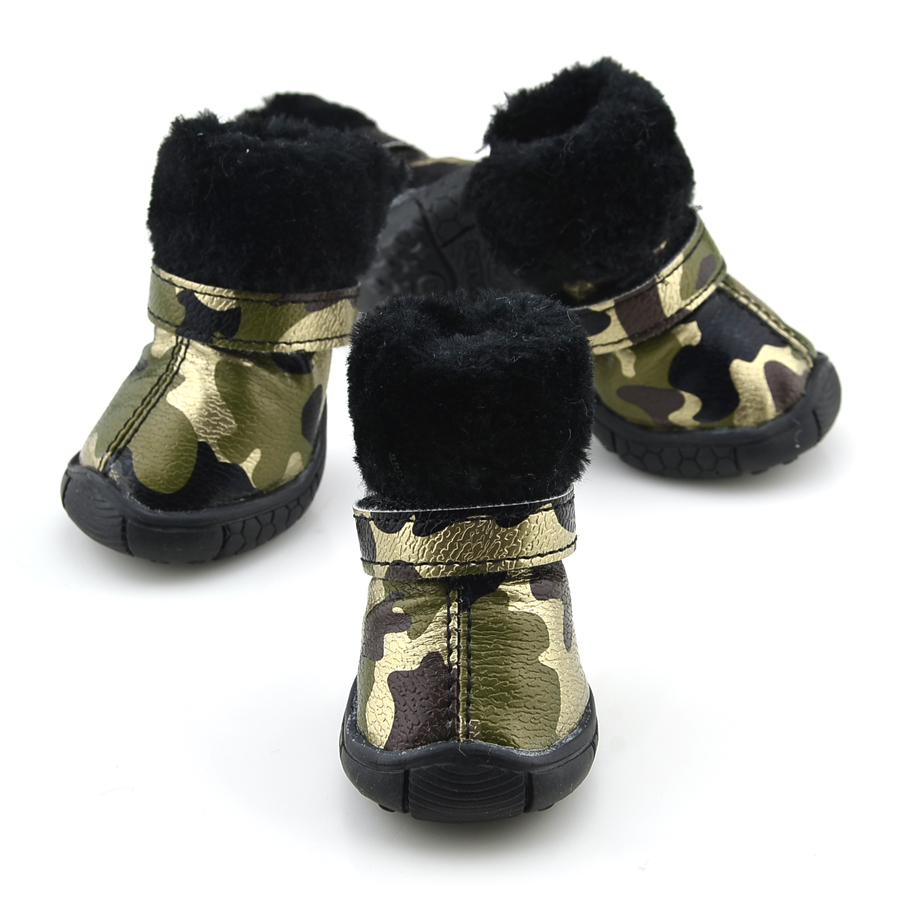 Favorite Camo Pu Lear Dog Shoes Winter Dog Boots G Camo Pu Lear Dog Shoes Winter Dog Boots Dog Boots Winter Canada Large Dog Boots Winter bark post Dog Boots For Winter