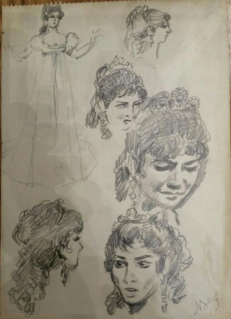 21_Nicola Benois, Ritratto di Maria Callas in Tosca, 1975. Collezione privata