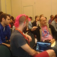 A session at NN12 with Zach Wahls (far left), Ian Awesome (center) and Todd Heywood (right)