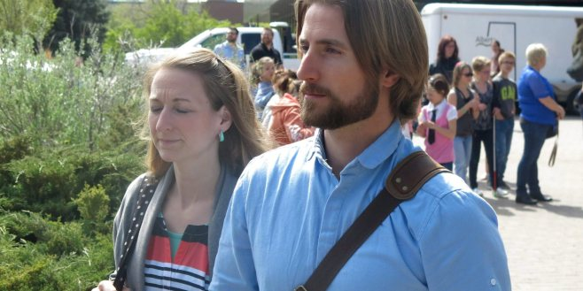 David and Collet Stephan come out of the courthouse in Lethbridge, Alta. at the conclusion of closing arguments on Saturday, April 23, 2016. The couple is charged with failing to provide the necessaries of life for their son who died in 2012. THE CANADIAN PRESS/Bill Graveland