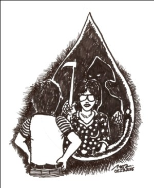 PAGE A6 EDITORIAL CARTOON PNT-blood