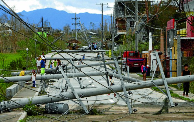 Aftermath of Typhoon Lawin in the Philippine province of Cagayan.