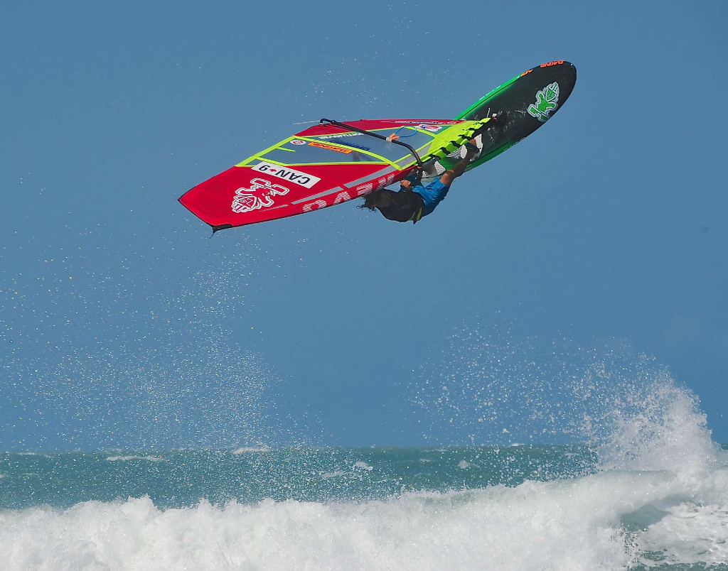 Backloop by Phil Soltysiak CAN 9 Windsurfing in Jericoacoara, Brazil. Photo by Adrian Irvine.