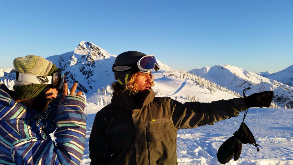 Phil Soltysiak and Russel Pearce in Revelstoke