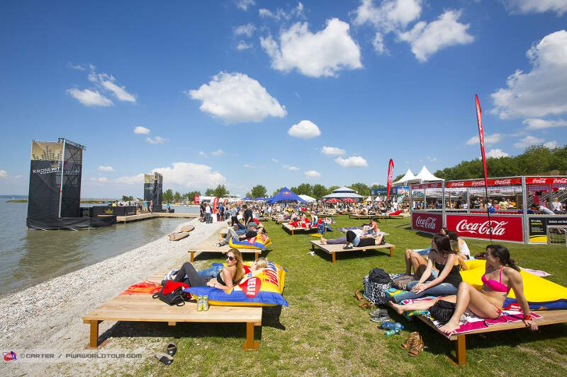 Sunny relaxing days during the PWA World Cup Austria