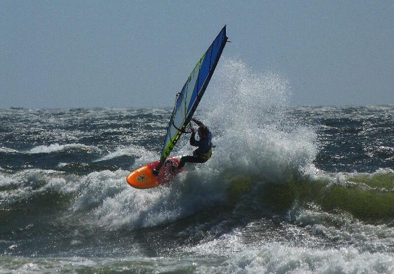 Phil Soltysiak on a wave in Pistol River Oregon - Photo by Ryan Allderman