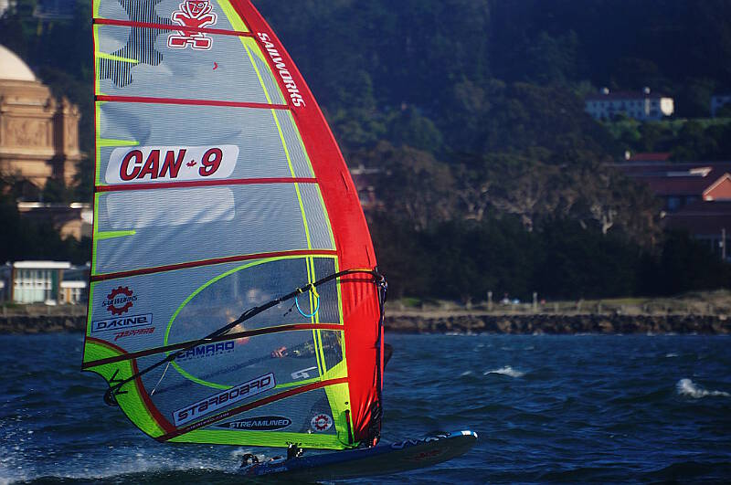 Sailworks and Starboard slalom gear working well - Photo by Greg Schreier
