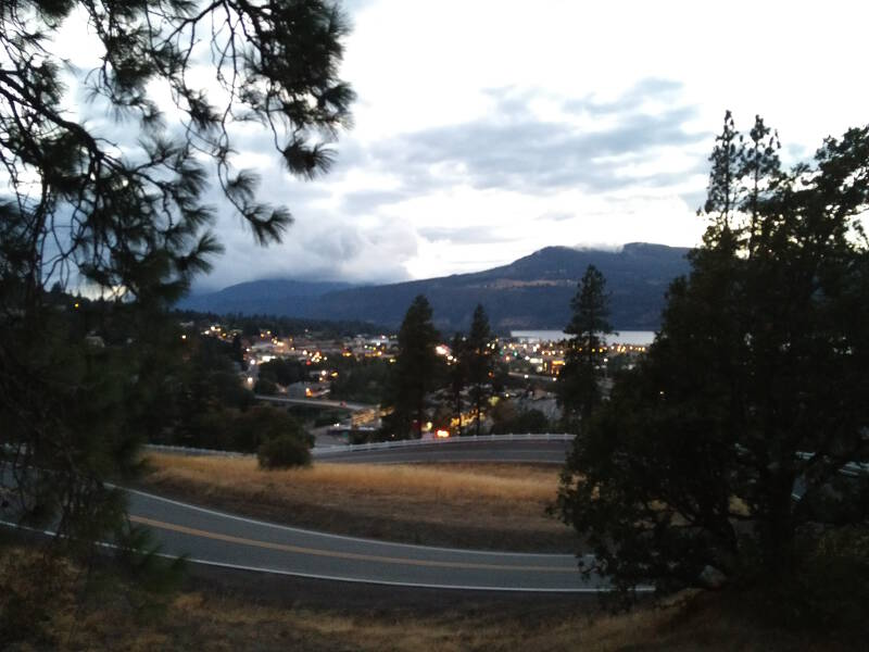 Evening view over Hood River