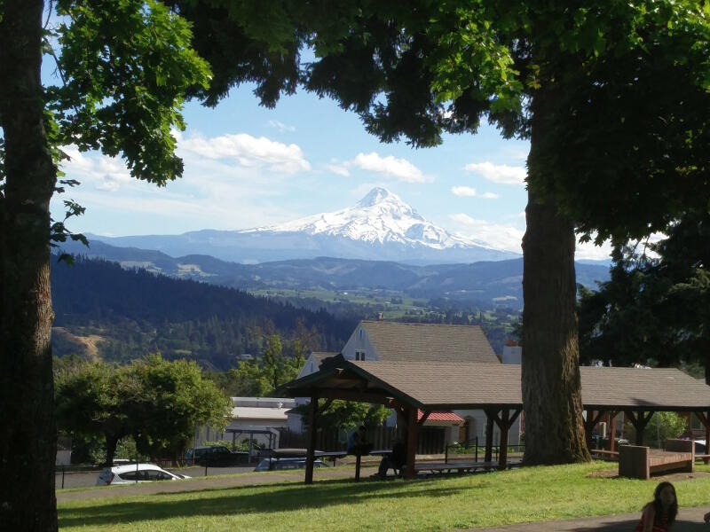 View of Mt. Hood from White Salmon, Washington.