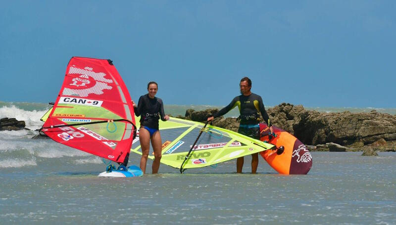 My girlfriend Kelsey came out to windsurf with me for a couple weeks.