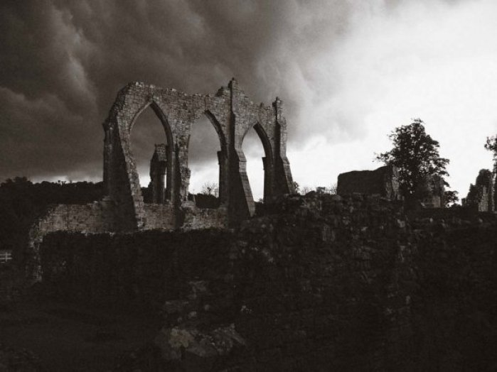 Bayham Abbey. That was some storm coming in
