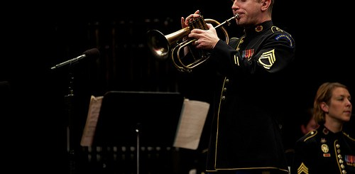 Performing Lonely Beauty w/ the Army Field Band. Photo by MSG Rob McIver