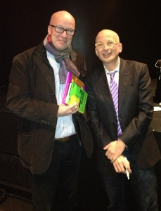"Seth Godin and Phil O'Brien at launch of ""The Icarus Deception"""