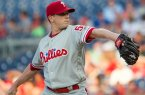 Jeremy Hellickson delivers a pitch during tonight's 9-6 loss to the Nationals.