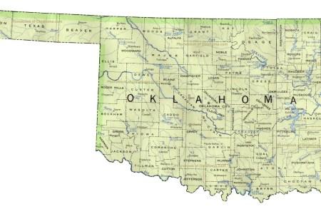 pics photos usa map with oklahoma highlighted