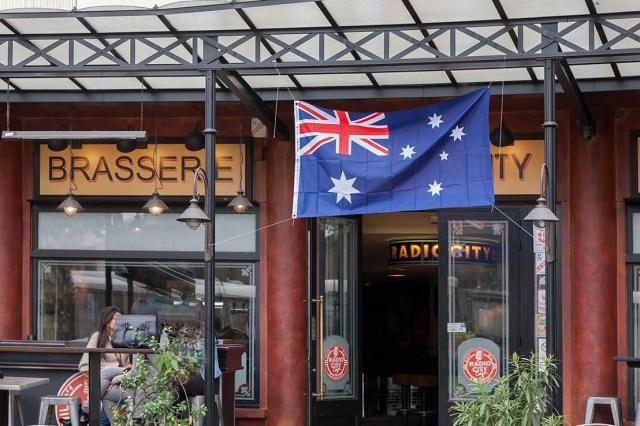 photo semaine 40 drapeau australien ©photo Patrick Clermont