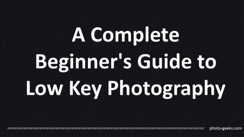 Guide to Low Key Photography