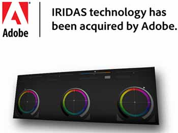 IRIDAS Technologies Obtained by Adobe