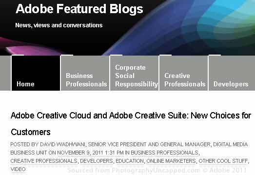 Adobe Featured Blog - CS6 Upgrade Eligibility + Subscriptions