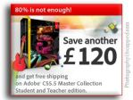 Get 25% off Master Collection CS5.5 Student and Teacher Edition PLUS Free Shipping! - Adobe UK - EU - FR - DE