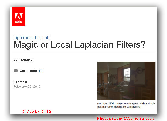 Adobe Camera Raw - Lightroom 4 - Photoshop CS6 - Process 2012 Technology