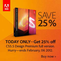 Save 25% off Adobe CS5.5 Design Premium Full
