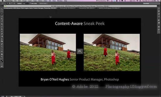 Adobe Sneak Peek - Content Aware - Photoshop CS6 New Feature?
