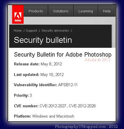 Adobe Photoshop Security Bulletin - Tif Tiff Vulnerability