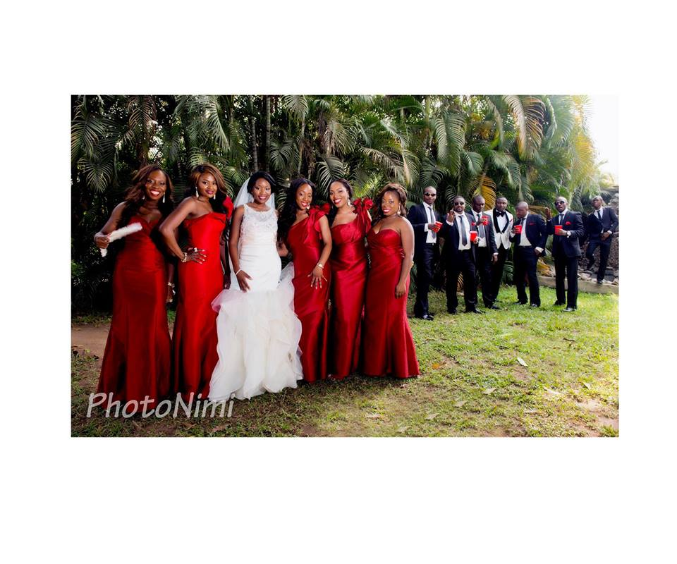 Bride, Bridegroom, Bridal Train & Groomsmen...Colourful!