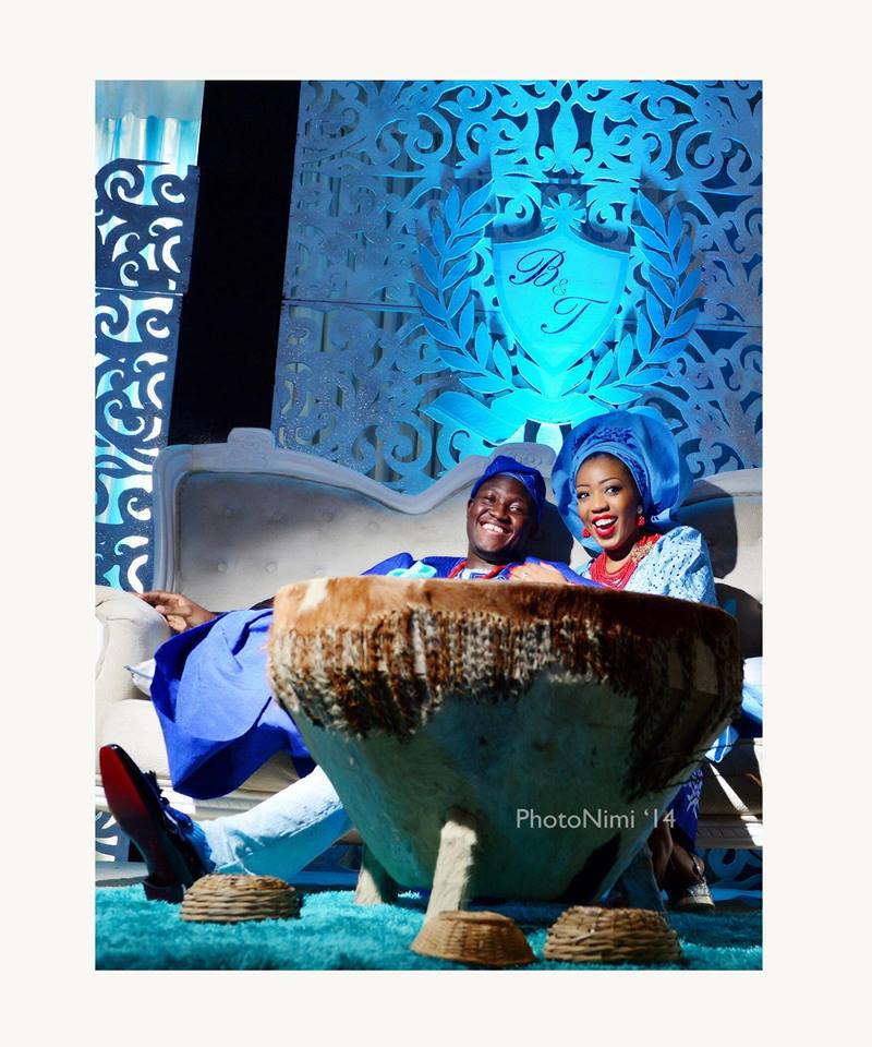 Bride & Groom, Seated On Their Throne