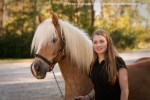 Dana and her haflinger (Dayton senior portrait photographer)