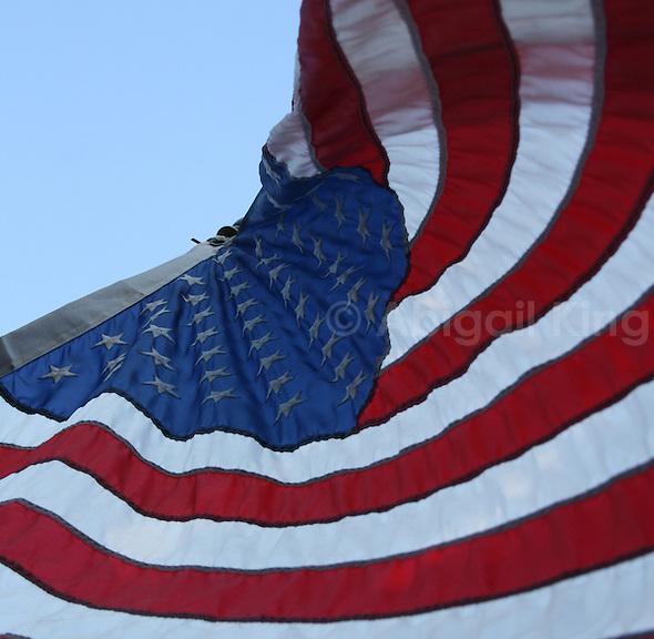 Stars and Stripes US Flag in Alaska