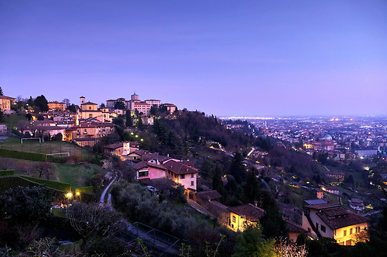 Bergamo Città Alta at sunset, Italy (Brad Mitchell Photography)