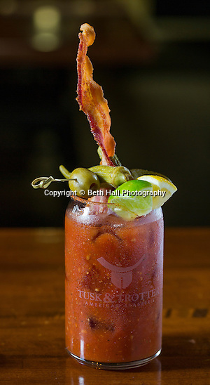 A bacon infused Bloody Mary at Tusk and Trotter on Friday, February 19, 2016, in Bentonville, Arkansas. Beth Hall for the New York Times (Beth Hall)