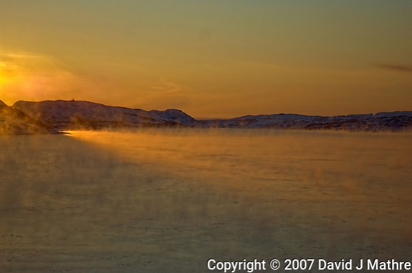Norway Winter Dawn on the M/S Kong Harald Approaching Kirkenes. Image taken with a Nikon D2xs and 28-70 mm f/2.8 lens (ISO 100, 70 mm, f/2.8, 1/2500 sec). (David J Mathre)