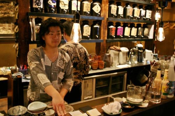 Time to pay at a Yaketori Bar