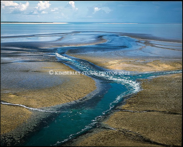 Aerial view of Montgomery Reef in Collier Bay on the Kimberley coast. (Richard Costin/© Richard Costin | Kimberley Media 2012)