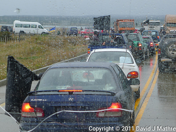 Roadblock outside of Pureto Natales Chile. Image taken with a Leica D-Lux 5 camera (David J Mathre)