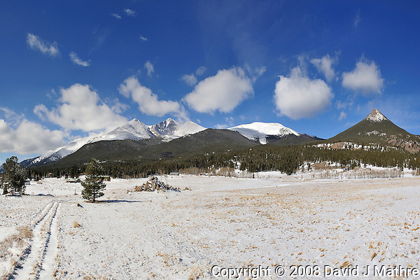 Longs Peak Panorama - Winter in Rocky Mountain National Park. Image taken with a Nikon D3 and 24 mm f/2.8 lens (ISO 200, f/11, 1/500 sec) (David J. Mathre)