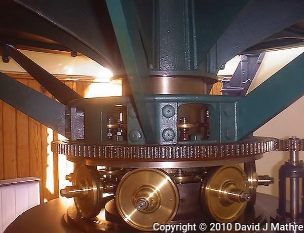 Amelia Island Lighthouse Clockwork. Image taken with a Polariod PDC700 digital camera. (David J Mathre)
