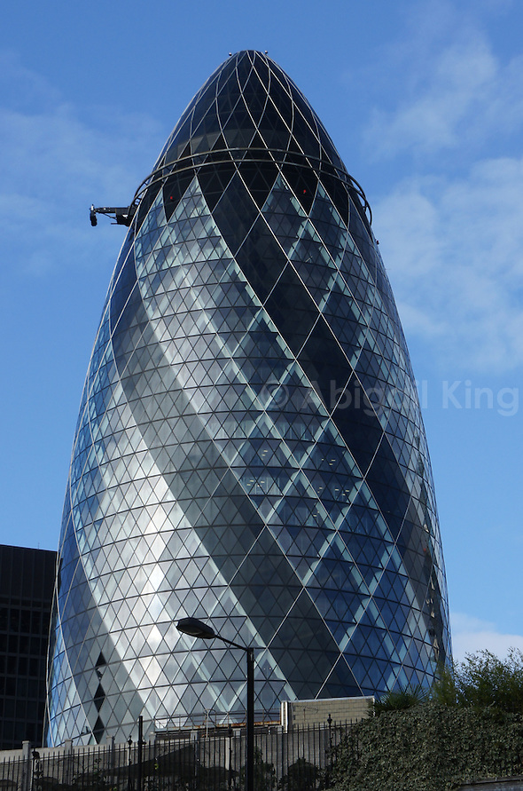 The Gherkin, 30 St Mary Axe, City of London -a modern symbol of London