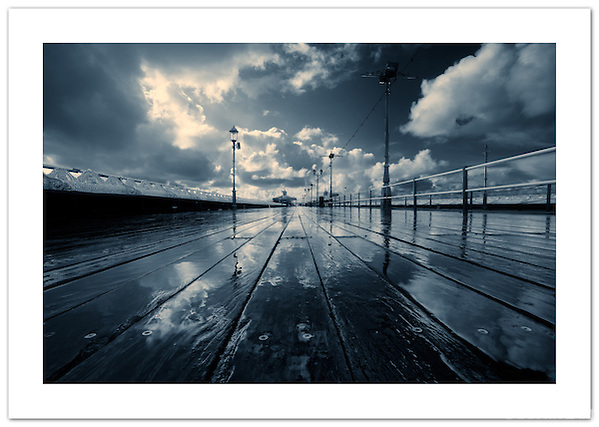 """Rain on the North Pier"" - Blackpool, Lancashire, England (© 2011 Ian Mylam)"