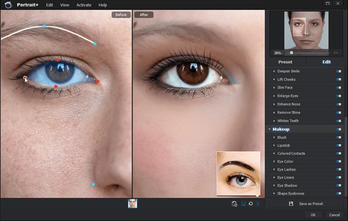 Adjusting key points in Portrait+